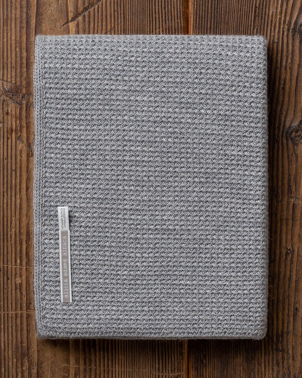 Alicia Adams Alpaca Zuma Baby Blanket, baby shower gift, best baby gift, alpaca vs cashmere, light grey alpaca baby blanket