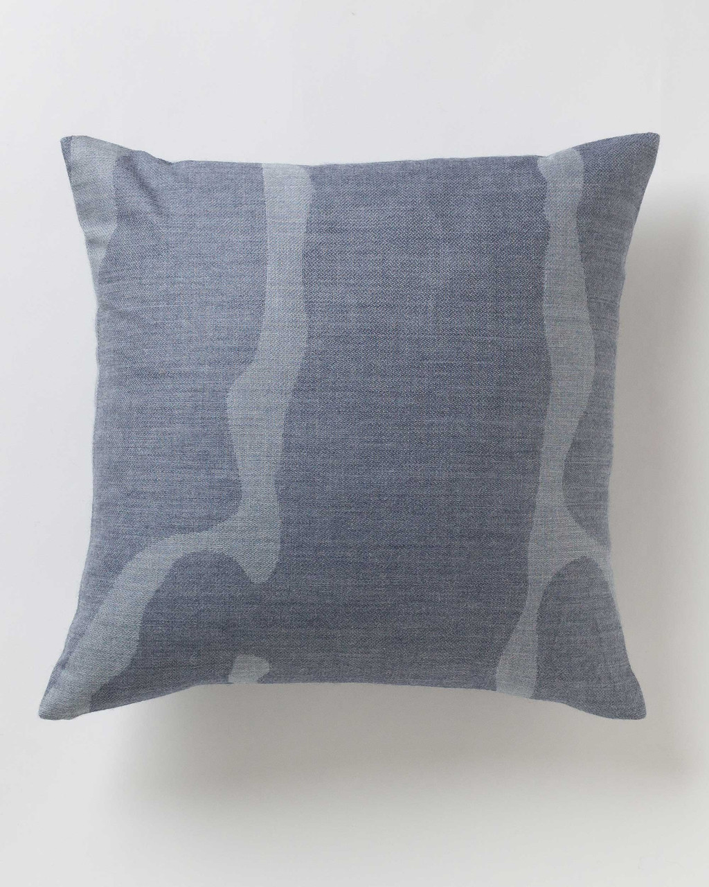 Alicia Adams Alpaca Zigby Pillow, alpaca pillow, alpaca throw pillow, alpaca decorative pillow, alpaca vs cashmere, denim blue and chambray blue alpaca throw pillow
