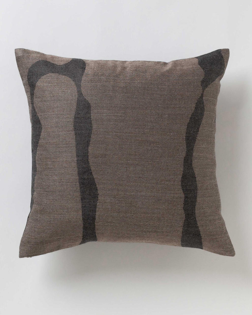 Alicia Adams Alpaca Zigby Pillow, alpaca pillow, alpaca throw pillow, alpaca decorative pillow, alpaca vs cashmere, taupe and charcoal grey alpaca throw pillow