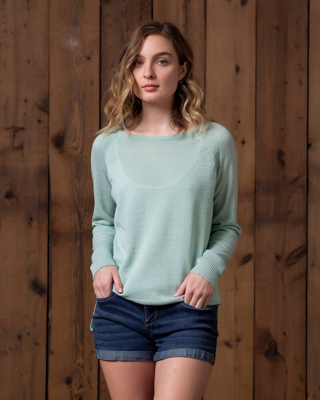 alicia adams alpaca brooke sweater, womens alpaca sweater, 100 alpaca sweater for women, lightweight alpaca sweater, mint green womens alpaca sweater
