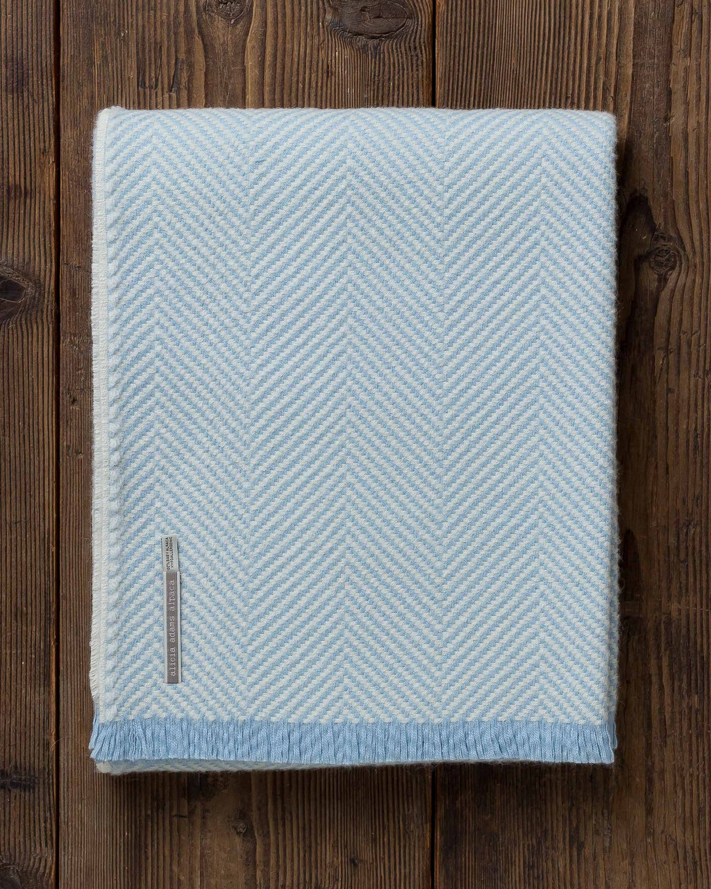 alicia adams alpaca millbrook throw, alpaca blanket, alpaca throws and blankets, 100 alpaca blanket, herringbone alpaca throw, ice blue alpaca throw