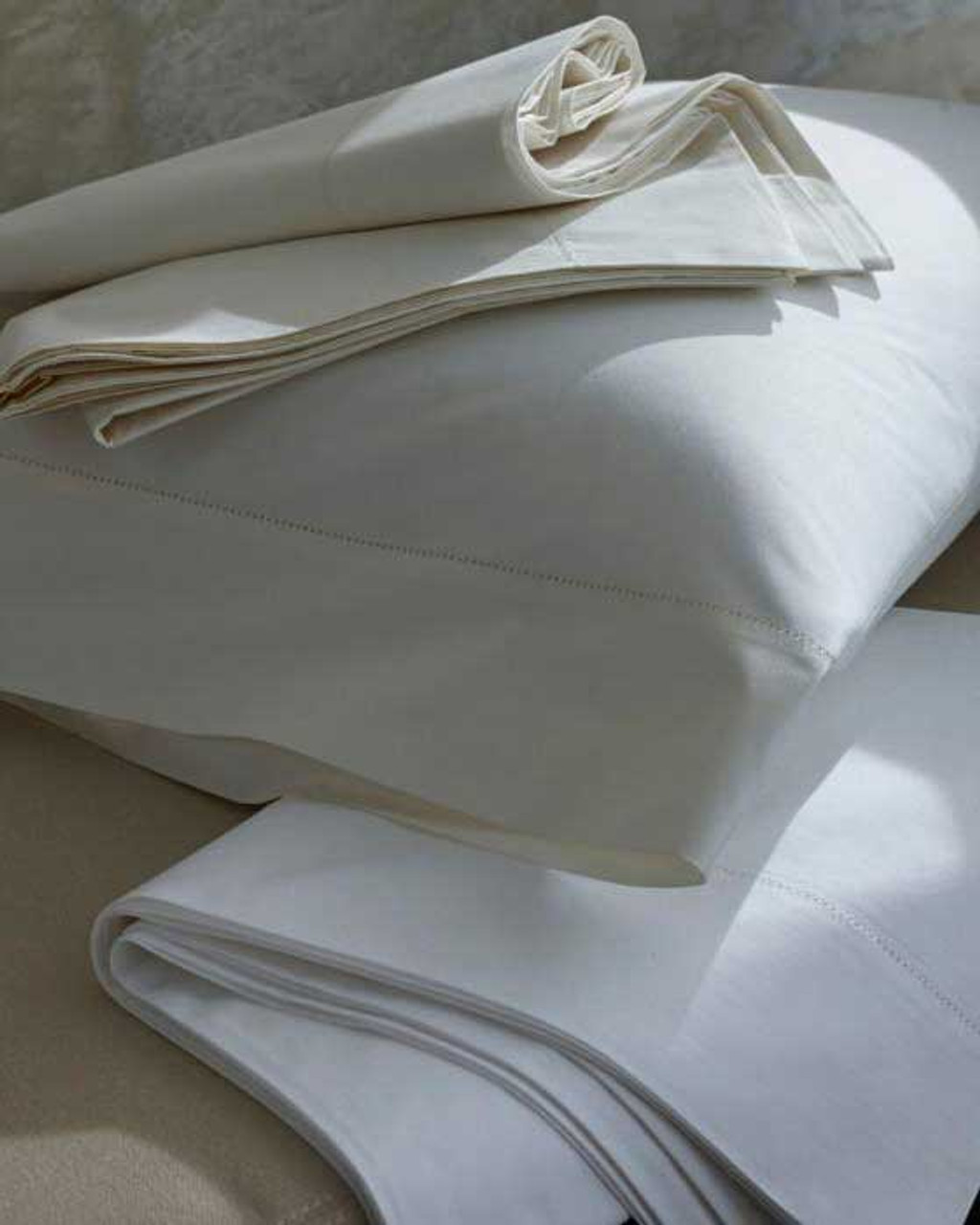 Classic Natural Percale Flat Sheet by Scandia Home