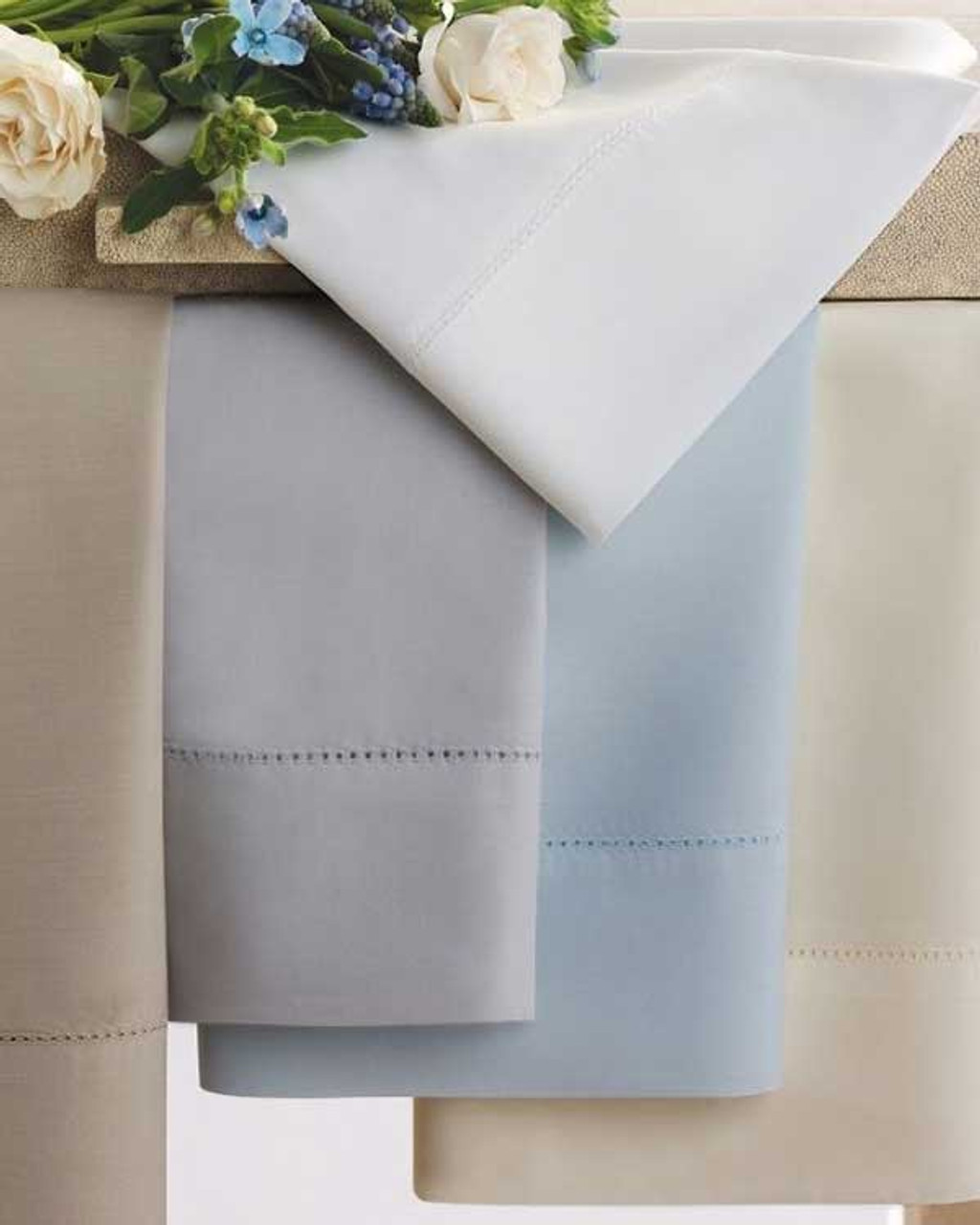 Classic Natural Percale Pillow Case by Scandia Home