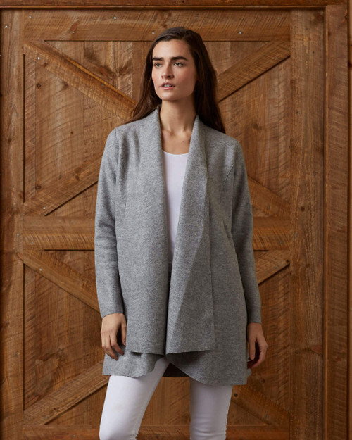 alicia adams alpaca women's swing coat, alpaca sweater coat, alpaca coat womens, alpaca coats outerwear, alpaca jacket womens, grey melange alpaca swing coat
