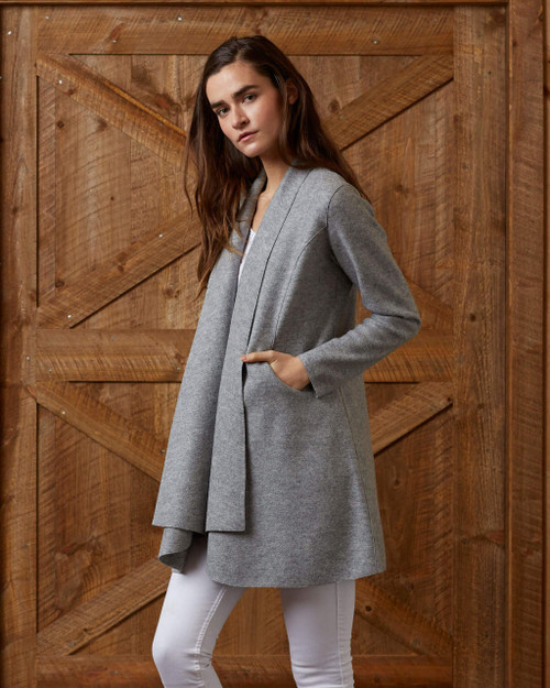 alicia adams alpaca women's swing coat, wool swing coat, alpaca blanket coat, alpaca sweater coat, alpaca coat womens, baby alpaca coats, alpaca outerwear for women, alpaca jacket for her, grey alpaca swing coat, sustainable womens alpaca clothing, baby alpaca swing coat for women