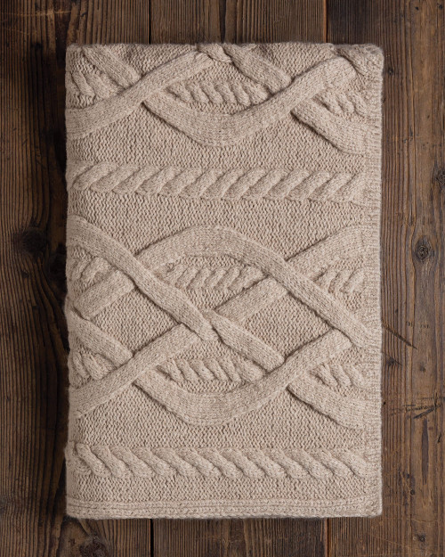 Alicia Adams Alpaca Buckley blanket baby alpaca throw, acclaimed by Wall Street Journal, Traditional Home, New York Times, in 100% baby alpaca lightweight soft color,  all fair-trade made, sustainable, softer than cashmere, chunky, open weave, beige