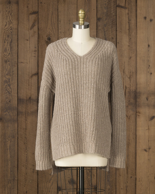 Alicia Adams Alpaca Oversized Sweater, alpaca sweaters women, oversized alpaca sweater, oversized sweaters for women, taupe alpaca sweater