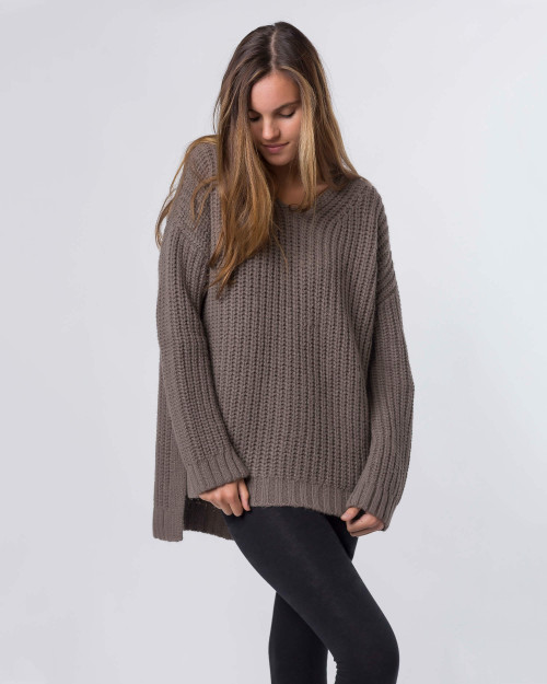 Alicia Adams Alpaca Oversized Womens Alpaca Sweater, alpaca boyfriend sweater, oversized womens sweater, oversized sweater, loose fit womens alpaca sweater, wool boyfriend sweater, cashmere boyfriend sweater, mocha, light brown