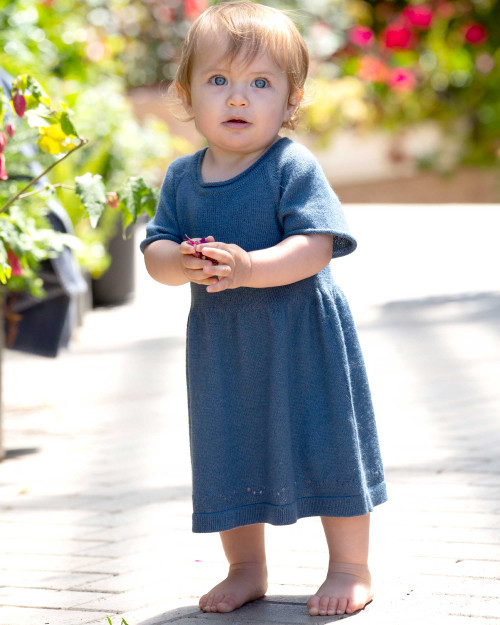 Alicia Adams Alpaca Mila Dress, alpaca dress, alpaca baby clothes, alpaca clothing, 100 baby alpaca, alpaca vs cashmere, english manor blue alpaca dress