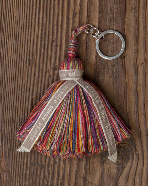 Alicia Adams Alpaca 100% Baby Alpaca Rainbow Keychain Keyring Benefiting LGBT Gift Pride Anti-Bullying GLSEN.org Handmade in Peru