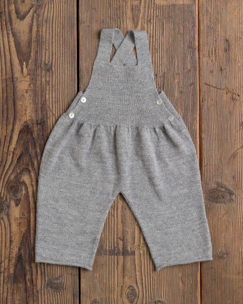 Alicia Adams Alpaca Niki Overalls, alpaca baby clothes, alpaca clothing, alpaca clothing kids, alpaca vs cashmere, light grey alpaca overalls