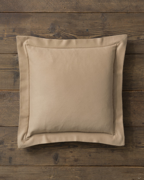 Alicia Adams Alpaca Hudson Euro Pillow, baby alpaca euro sham pillow, luxury alpaca bedding, acclaimed by Wall Street Journal, Traditional Home, New York Times, in 100% baby alpaca lightweight soft color, light taupe, all fair-trade made, sustainable, softer than cashmere