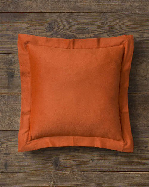 Alicia Adams Alpaca Hudson Euro Pillow, baby alpaca euro sham pillow, luxury alpaca bedding, acclaimed by Wall Street Journal, Traditional Home, New York Times, in 100% baby alpaca lightweight soft color, marmalade orange, preppy, all fair-trade made, sustainable, softer than cashmere