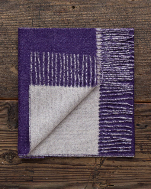 Alicia Adams Alpaca 100% Baby Alpaca Extra Large XL Reversible Two Tone Scarf on Sale, gift for wife, mother, daughter, mother's day gift, purple grape, lavender, Clearance Blowout Cheap Closeout Alpaca Fair Trade Handmade in Peru