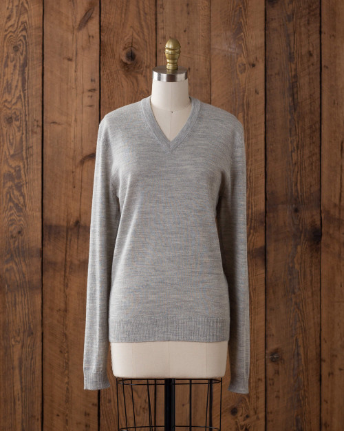 Alicia Adams Alpaca, 100% Baby Alpaca Womens Pearl Grey Rainbow Sweater, Benefitting LGBT Gift, Pride Anti-Bullying, GLSEN.org, Handmade in Peru, alicia adams alpaca v neck sweater, luxury v neck alpaca sweater, alpaca sweater for women, womens alpaca pullover, light grey premium alpaca sweater, dove grey v neck sweater for women, womens v neck sweater, baby alpaca v neck sweater