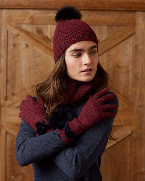 alicia adams alpaca 100% baby alpaca alpina gloves, womens luxury gloves with fur trim, alpaca fur trimmed gloves, womens luxury alpaca gloves, fur trimmed womens gloves, alpina accessories, fur trimmed womens gloves, burgundy red womens alpina alpaca gloves, burgundy maroon red luxury alpaca gloves