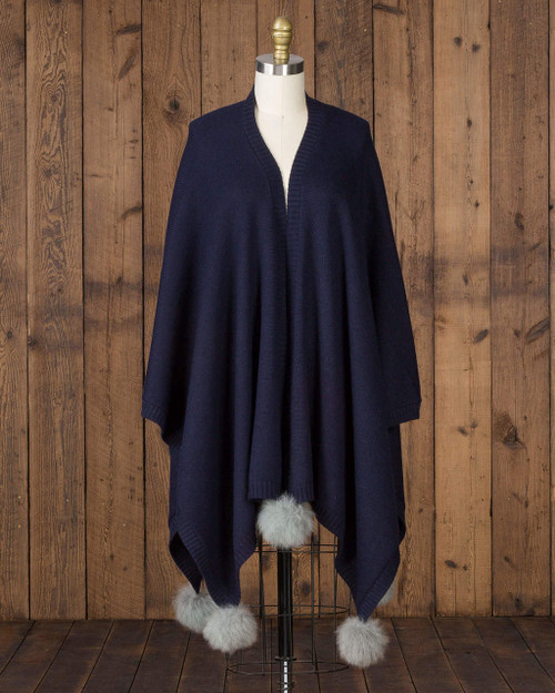 alicia adams alpaca 100% baby alpaca alpina cape, womens luxury cape with fur trim, alpaca fur trimmed cape, womens luxury alpaca cape, fur trimmed womens cape, alpina accessories, fur trimmed womens cape, navy blue and grey womens alpina alpaca cape, navy blue and grey luxury alpaca cape, real alpaca fur poncho, après ski fur cape, après ski fur poncho
