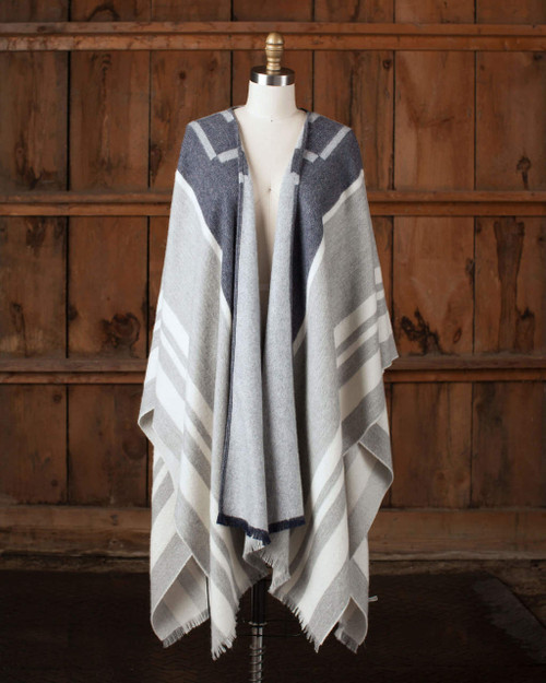 alicia adams alpaca mazing blanket cape, 100 baby alpaca wool cape, 100% baby alpaca wool cape, native american womens wool cape, geometric design womens cape, alpaca wool ruana, alpaca wool stole, fair trade made alpaca cape, luxury native american cape, unisex cape, neutral taupe tan and blue womens alpaca wool cape, cozy western alpaca cape, stylish casual alpaca cape, luxury southwestern womens alpaca cape