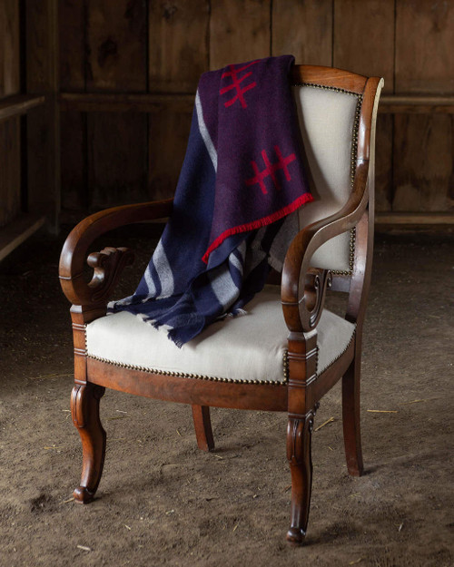 Alicia Adams Alpaca Mazing Throw blanket, airy, perfect for spring & summer, geometric, acclaimed by Wall Street Journal, Traditional Home, New York Times, in 100% baby alpaca lightweight soft color, summer colors, navy, all fair-trade made, sustainable, softer than cashmere
