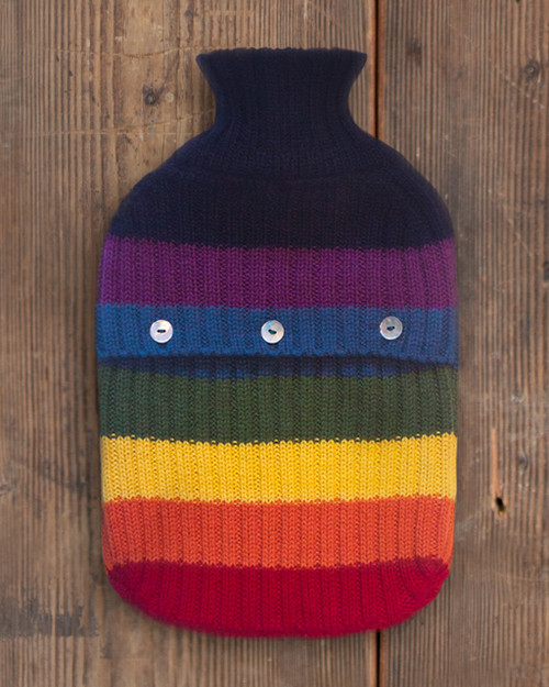 Alicia Adams Alpaca 100% Baby Alpaca Classic Rainbow Hot Water Bottle Bed Warmer Benefitting LGBT Housewarming Gift Pride Anti-Bullying GLSEN.org Handmade in Peru