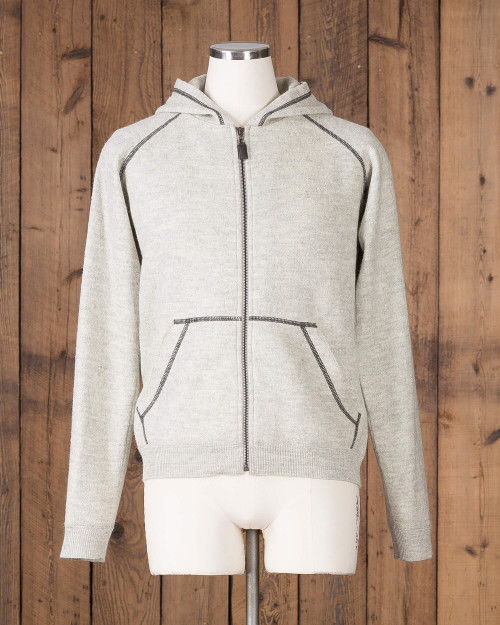 alicia adams alpaca verbier zip up hoodie, alpaca hoodie mens, mens alpaca wool sweater, alpaca hoodie sweater, pearl grey alpaca zip up sweater
