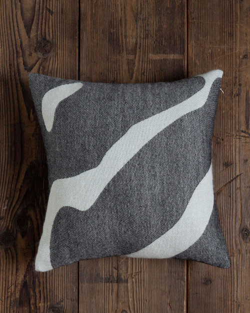 Alicia Adams Alpaca Zebra Pillow, baby alpaca throw pillow, luxury alpaca bedding, white and black baby alpaca throw pillow, fair trade alpaca pillow, bicolor alpaca throw pillow, safari throw pillow, animal print throw pillow