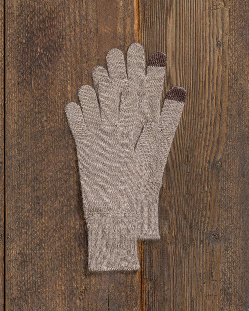 Alicia Adams Alpaca Ricki Glove, womens alpaca gloves, alpaca gloves, touch screen alpaca gloves, alpaca vs cashmere, light taupe tan alpaca gloves