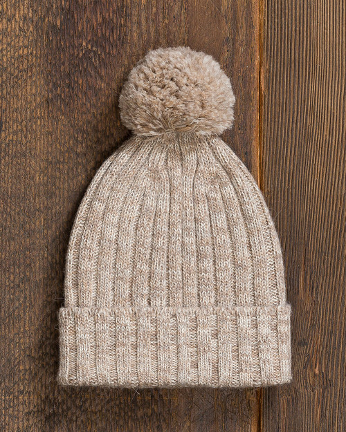 alicia adams alpaca davos hat, 100% baby alpaca, 100 alpaca, womens luxury beanie hat, mens luxury beanie hat, alpaca accessories, hat, winter wardrobe, knit hat, head ware, accessories, warm, cozy, tan, taupe, camel,  luxurious, ultra-soft,  all fair-trade made in peru, sustainable, softer than cashmere