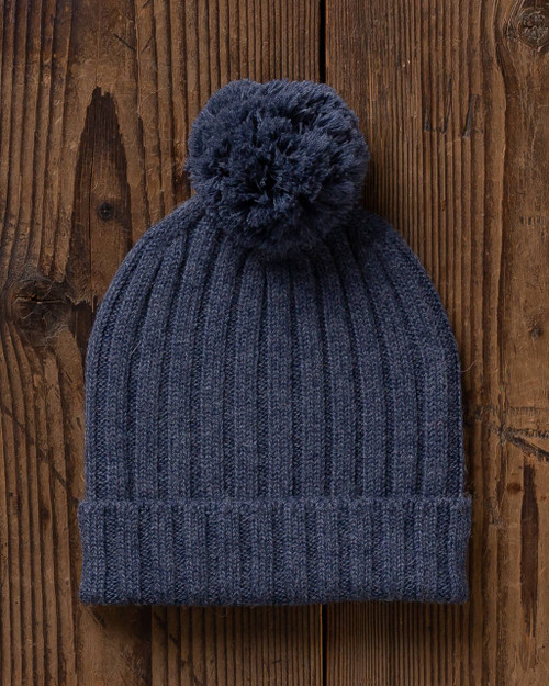 alicia adams alpaca davos hat, womens beanie hat, alpaca beanie hat,  all fair-trade made hat, alpaca vs cashmere, denim blue alpaca hat
