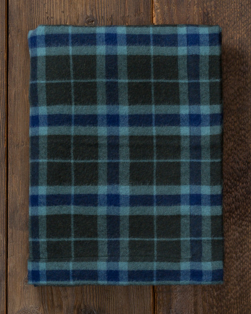 alicia adams alpaca aberdeen throw, plaid alpaca throw blanket, alpaca throw, fair trade alpaca bedding, velvet green and indigo blue plaid alpaca throw
