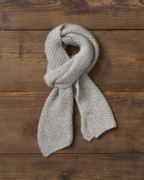 Alicia Adams Alpaca whistler scarf, womens alpaca scarf, knitted alpaca scarf, all fair-trade made in peru, alpaca vs cashmere, light grey alpaca scarf