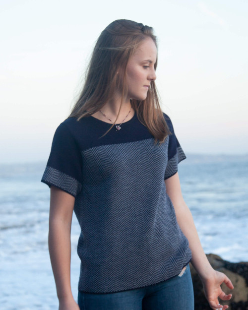 alicia adams alpaca alana top, 100% baby alpaca, ivory white womens alpaca sweater, navy blue womens alpaca top, luxury alpaca sweater, luxury alpaca top,  Alpaca Fair Trade Handmade in Peru, sustainable, softer than cashmere,