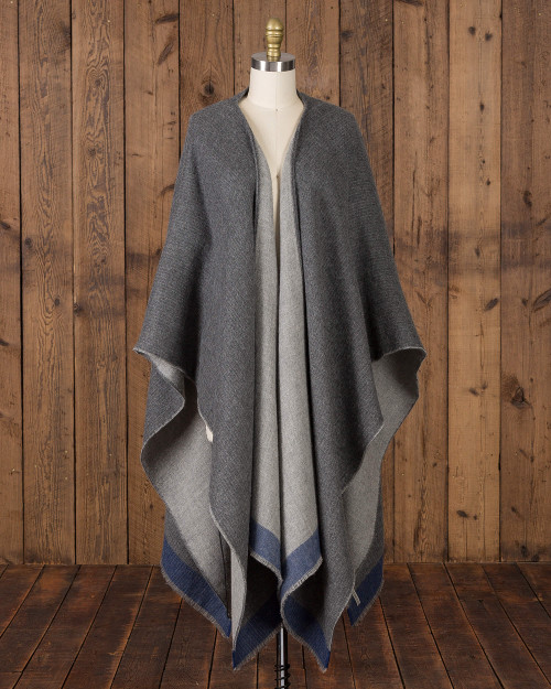 Alicia adams alpaca empire cape, alpaca poncho cape for women, alpaca poncho, womens alpaca poncho , alpaca vs cashmere, grey indigo light grey womens cape