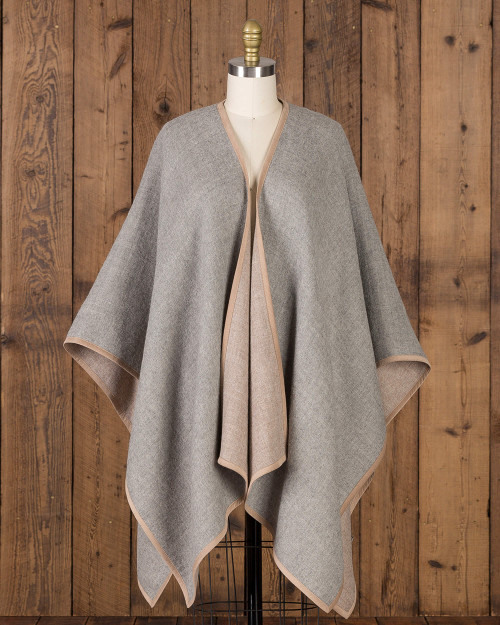 Alicia Adams Alpaca Vienna Cape, alpaca poncho cape for women, alpaca poncho, alpaca poncho womens, alpaca vs cashmere, light grey and taupe womens cape