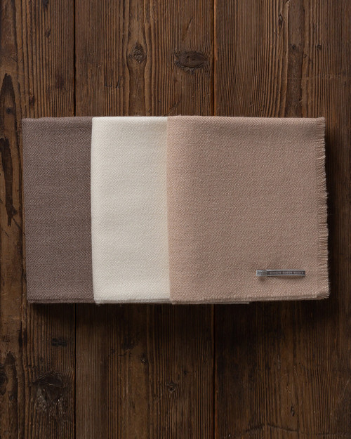 Alicia Adams Alpaca - The Staple Throw, in taupe cream beige, host / hostess gift, shower gift, anniversary gift, fluffy alpaca throw blanket, alpaca wool blanket, luxury alpaca throw