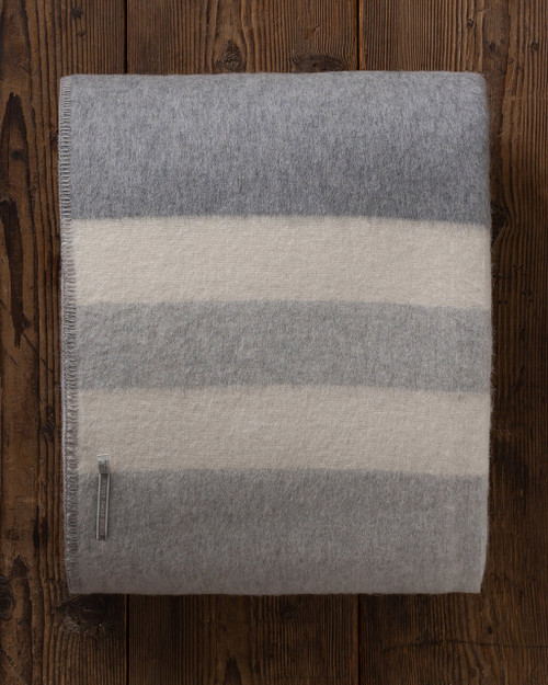 Alicia adams alpaca king blanket, alpaca blanket, baby alpaca throw blanket, alpaca throw, alpaca vs cashmere, grey-light grey-ivory alpaca blanket
