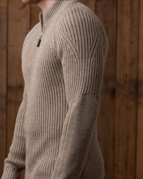Alicia Adams Alpaca Leo Zip Sweater, mens alpaca sweater, mens zip cardigan, 100 alpaca sweater mens, alpaca sweater, light taupe alpaca wool sweater