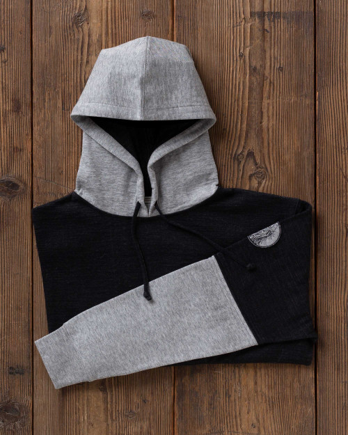 alicia adams alpaca hoodie for men, alpaca men's clothing, alpaca sweatshirt, alpaca clothing, alpaca vs cashmere, grey and black alpaca sweatshirt