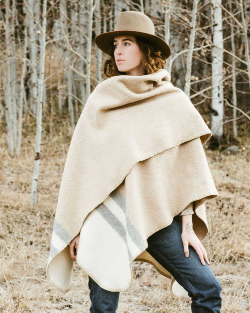 Alicia Adams Alpaca Olsen Cape, alpaca poncho cape for women, alpaca poncho womens, alpaca wrap, ivory, light grey and beige alpaca cape
