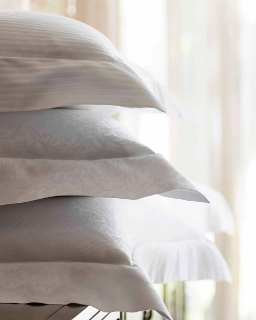 "scandia down savoia shams w/ 2"" flange, scandia home savoia shams w/ 2"" flange, scandia down linens, scandia home linens"