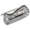 Kizer Catshark Gray Titanium + G10 (V2561N1) closed clipside