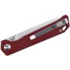 Kizer Begleiter Mini Red Micarta (V3458RN3) closed clipside