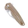Kizer Horn Brown Micarta (V3557N1) closed scales