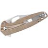 Kizer Horn Brown Micarta (V3557N1) closed clipside
