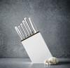 Wusthof Classic White Slim Block Set 6 Slot Bread Knife Version (1090270602) lifestyle side view