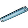 MKM Flame Executive Flipper Blue Titanium (MKMFL02TBSW) closed scales