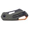 MKM Isonzo OD Green Black Sheepsfoot (MKMF0322) closed clipside