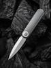 WE Eidolon Grey G10 Single Edge Blade (WE19074B-A) open profile
