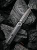 WE Eidolon Black G10 Single Edge Blade (WE19074B-B) open clipside