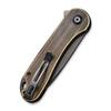 CIVIVI Elementum Brass Black Tanto (C907T-A) closed clipside